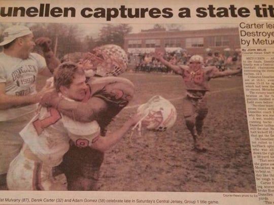 Front page of Dec. 3, 1993 News Tribune documents Dunellen's championship