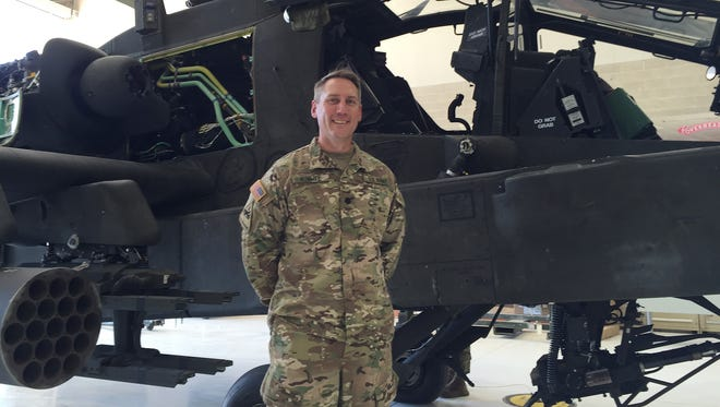 Lt. Col. Tim Hummel led the 127th Aviation Support Battalion for the past two years, giving up command on May 11.