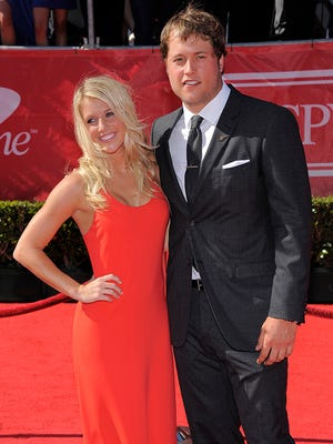 Kelly Hall and Matthew Stafford