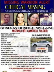 Family and friends say Shadow Branice McClain has been missing since Sept. 2.