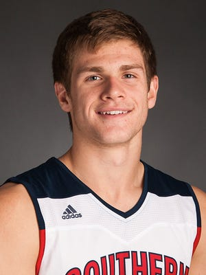 USI basketball player Alex Stein.
