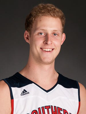 USI basketball player Davis Carter