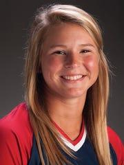 University of Southern Indiana sophomore softball player Courtney Atkisson.