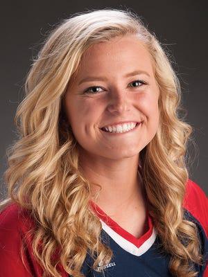 University of Southern Indiana freshman softball player Jennifer Leonhardt.