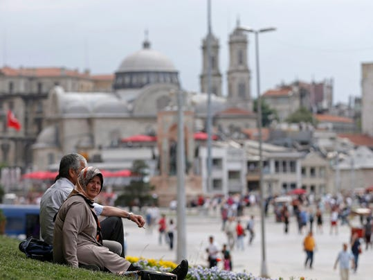 EPA TURKEY PROTEST ANNIVERSARY