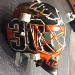 PHOTOS: A look at Michal Neuvirth's Stadium Series mask
