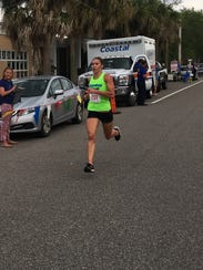 Kaitlin Donner competes in the Pirate Plunder 2 Miler.