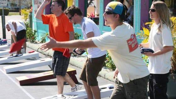 Homecoming festivities in Estero include today's cornhole tournament.