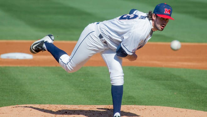 Right-handed starting pitcher Chad Smith gives Ole Miss' starting rotation a hot arm as it heads into the Southeastern Conference Tournament on Tuesday against the Georgia Bulldogs.