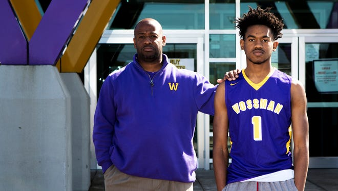 Wossman's C.J. Jones (1) is the 2017 All-NELA Boys Player of the Year. C.J. played all four years for his dad, Casey Jones, at Ouachita and Wossman.