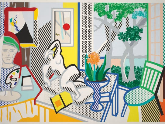"Roy Lichtenstein, ""Bellagio Hotel Mural: Still Life"