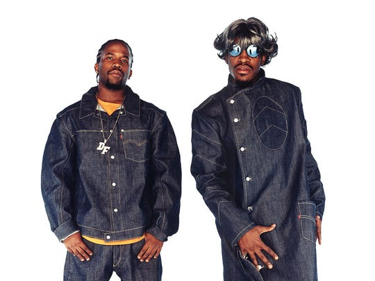 OutKast -- Big Boi, left, and Andre 3000 -- are among headliners at Forecastle Festival 2014.