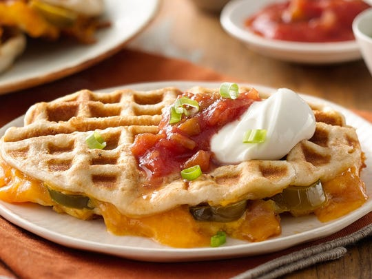 Jalapeno Cheddar Waffle Melts
