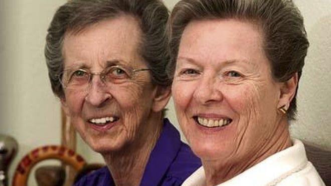Beverly Sevcik, right, and Mary Baranovich.