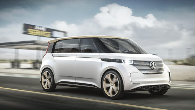 Volkswagen's BUDD-e concept Microbus updates the 1960s-era model with controls that recognize voices and a driver's gestures.