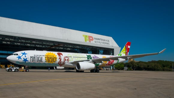 TAP Air Portugal unveiled this special livery to promote