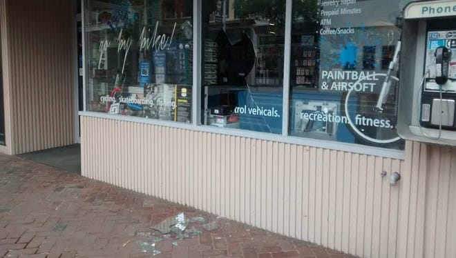 Randy Colle Bicycles Plus in Bridgeton was the site of an overnight burglary in which a window was smashed and merchandise stolen.