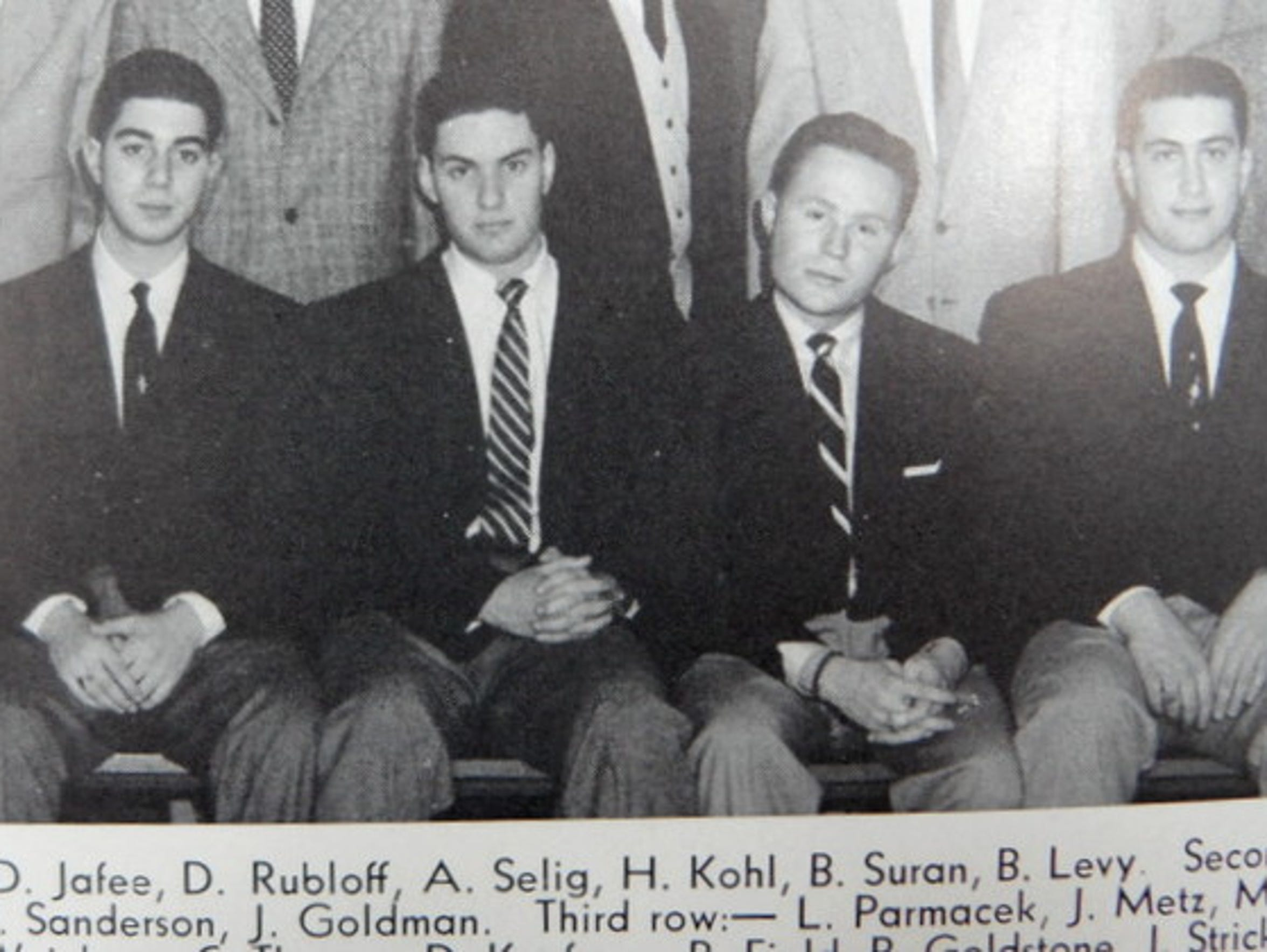 Bud Selig (second from left) and Herb Kohl (second