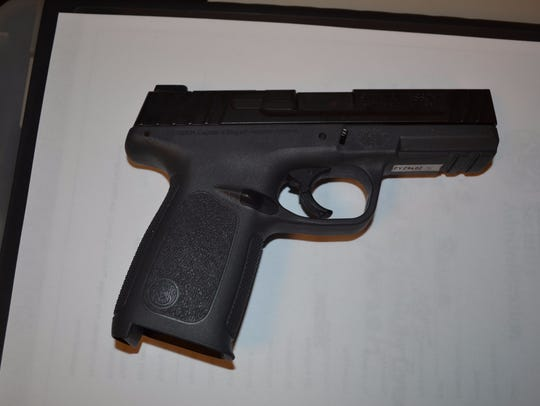 Pictured is the gun found Tuesday, July 11, in a passenger's
