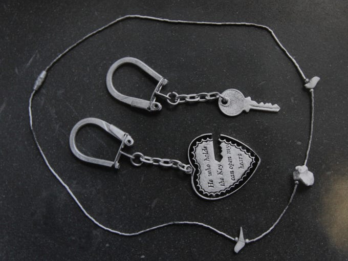 A keychain found on the unidentified homicide victim