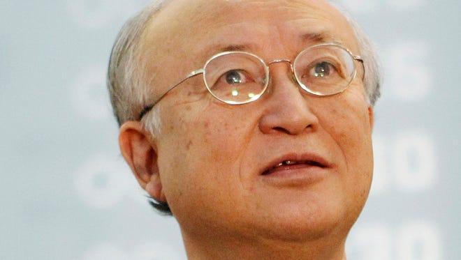 Yukiya Amano is the director general of the International Atomic Energy Agency (IAEA).