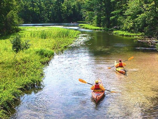 People Kayaking near Waupaca