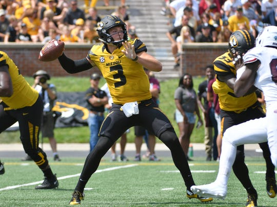 Missouri quarterback Drew Lock threw for 521 yards
