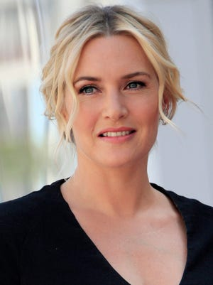 Kate Winslet is awarded a star on the Hollywood Walk of Fame in Los Angeles on March 17.