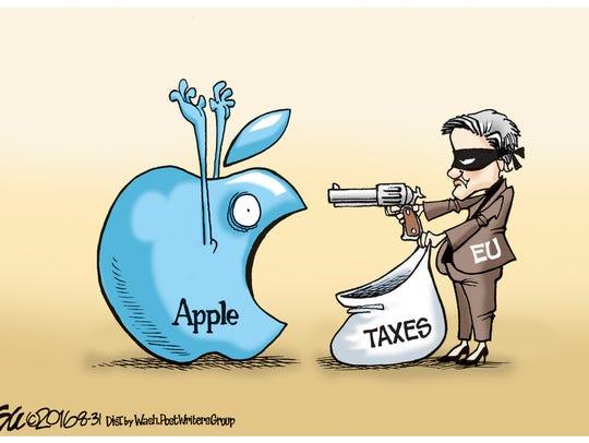 Apple taxes.