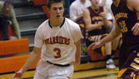 Senior guard Zane Schumaker helps lead Dell Rapids into the Class A state boys tournament today in Rapid City. The third-seeded Quarriers play Mount Vernon-Plankinton in the first round at 7:45 p.m.