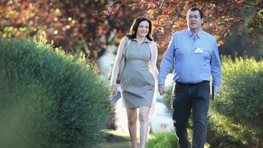 Dave Goldberg and his wife, Facebook COO Sheryl Sandberg, shown here during a conference in Sun Valley, Idaho, last summer.
