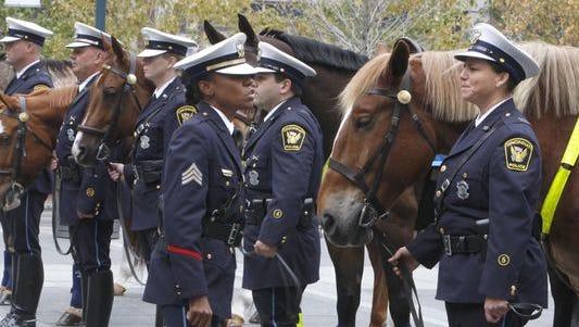 Cincinnati's mounted patrol unit in 2008.