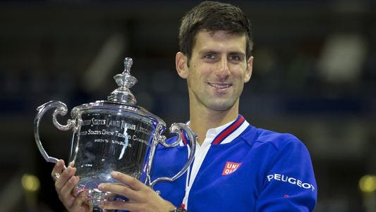 Novak Djokovic defeated Roger Federer to win the U.S. Open on Sunday, September 13, 2015.