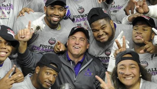 Alcorn State coach Jay Hopson and the Braves won back-to-back SWAC titles by beating Grambling in the conference title game in Houston.