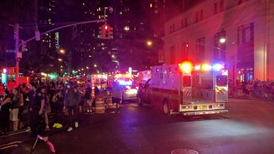 The aftermath of an explosion in New York's Chelsea neighborhood Saturday night.