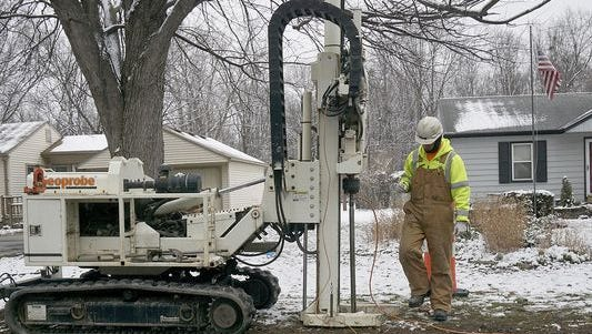 Drilling that took place in the Alden Village subdivision last year. An Illinois law firm said a lawsuit will be filed Wednesday against Ford Motor Co.