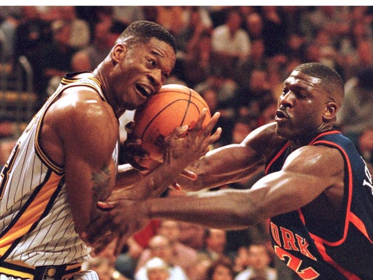 Antonio Davis was a rebounding machine for the Pacers.