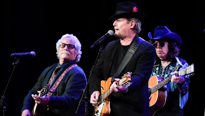 Chris Hillman and Roger McGuinn perform during the 17th Annual Marty Stuart's Late Night Jam at Ryman Auditorium  Wednesday, June 6, 2018, in Nashville , Tenn.