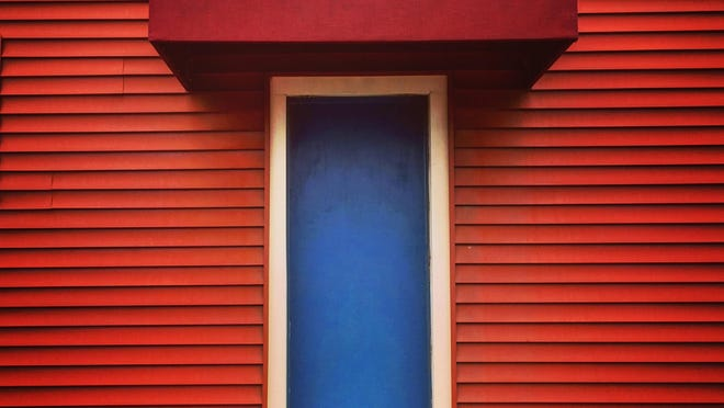 """""""Blue Door,"""" a photograph by Nancy Donskoj, is part of the """"Morning Walks"""" exhibit at The Storefront Gallery in Kingston through Nov. 19."""