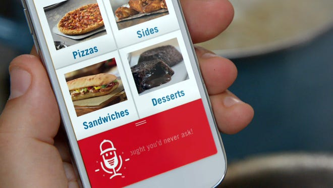 """The Dominos voice app, that features """"Dom"""" the only voice app that conducts retail transactions."""