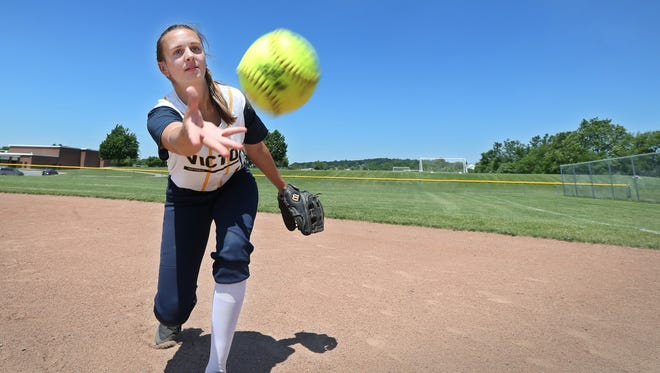 Victor High School senior shortstop Sammie Torlish is the All-Greater Rochester Softball Player of the Year.