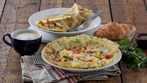 Breakfast crepes are now available at la Madeleine.