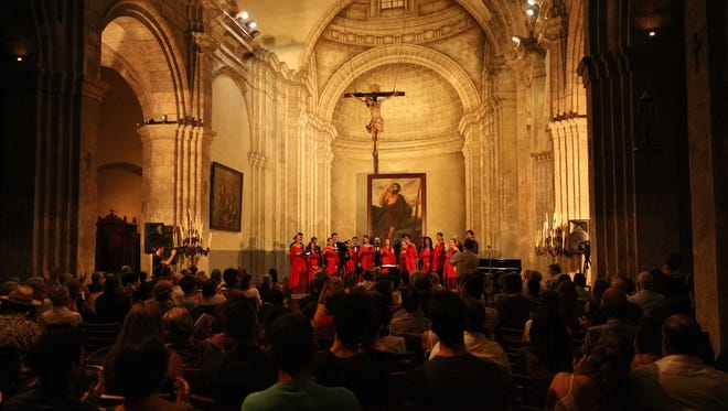 Schola Cantorum Coralina, a professional choir in Cuba, performed Springfield composer Michael F. Murray's work at a Nov. 2015 concert in an Old Havana cathedral