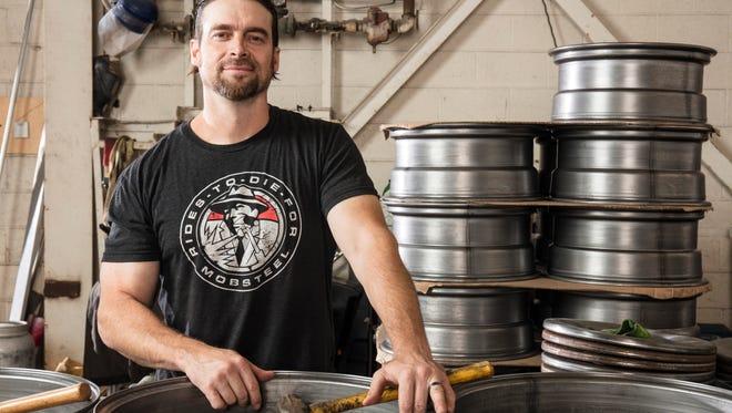 Adam Genei stars in HISTORY's 'Detroit Steel.'     Photo by Scott Council