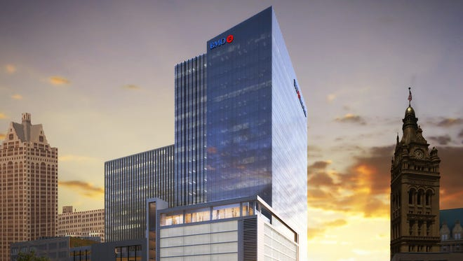 BMO Harris Bank released drawings of its proposed new downtown Milwaukee office building.