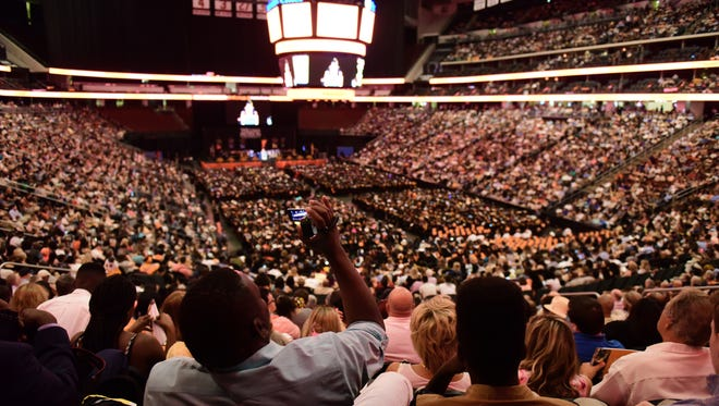 William Paterson University held their Undergraduate graduation at the Prudential Center in Newark Friday May 19, 2017.