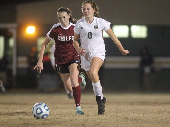 Rylee French and the Lincoln Trojans girls soccer team beat Chiles 2-0 on Wednesday night in a District 2-4A semifinal.