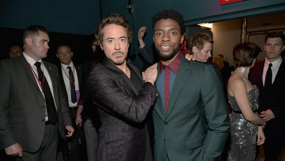 Robert Downey Jr. and Chadwick Boseman represented