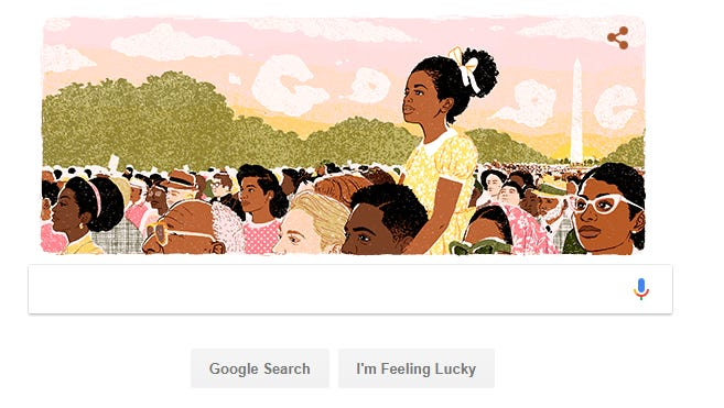 The Google Doodle on Martin Luther King, Jr. on Jan. 15, 2018.