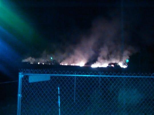 Photo from Danielle Miranda of the fire in Northeast Salem